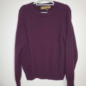 B.B. Dakota 100% Cashmere Purple Sweater